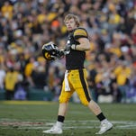"""C.J. Beathard led Iowa to the Rose Bowl, but couldn't cap a magical 2015 season with a victory. """"That was the one game we didn't show up for,"""" he said glumly, of a 45-16 loss to Standford."""