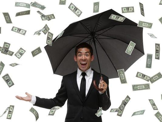 Raining money