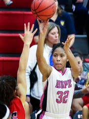 Stewarts Creek's Brianah Ferby shoots a jumper during