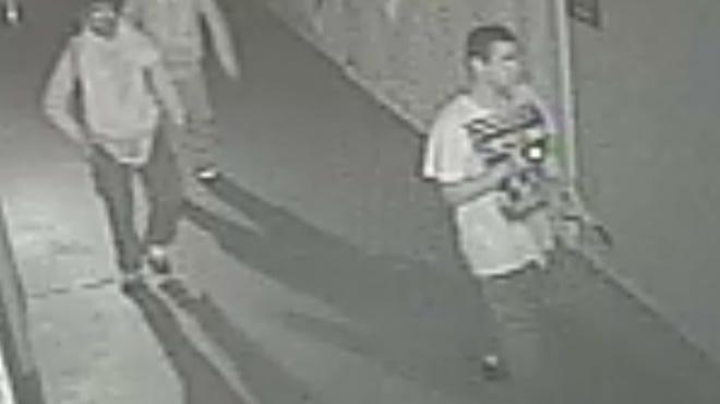 Image of three suspects sought in Camden farmers market burglary.