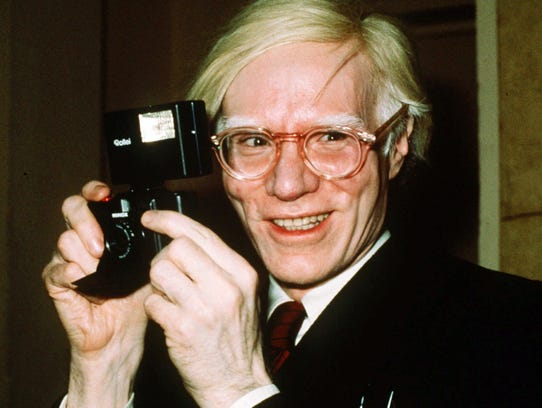 Andy Warhol in 1976 in New York.
