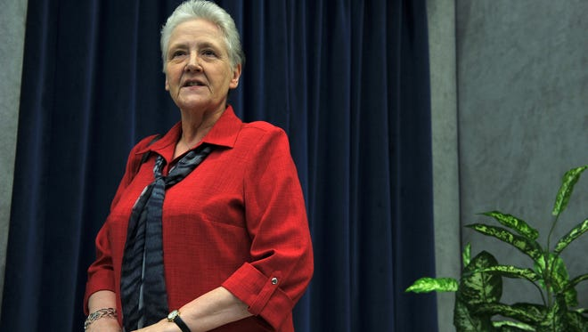 Marie Collins attends a press conference on May 3, 2014 at the Vatican.