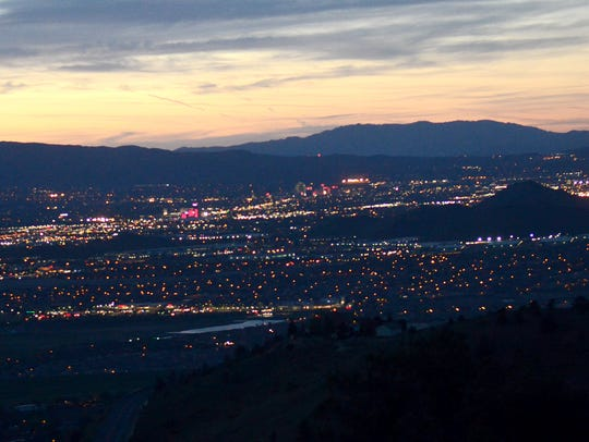 A view of Reno from Geiger Grade.