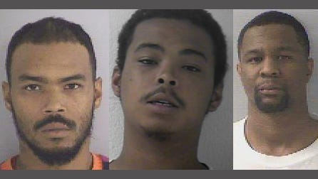 Stephano Henderson, Laneal Henderson and Eugene Clifford (left to right)