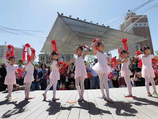 Ballerinas from the Galatzan Recreation Center dance
