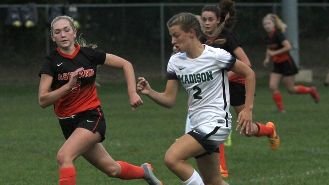The Madison girls soccer team was host to Ashland during a home game on Thursday.