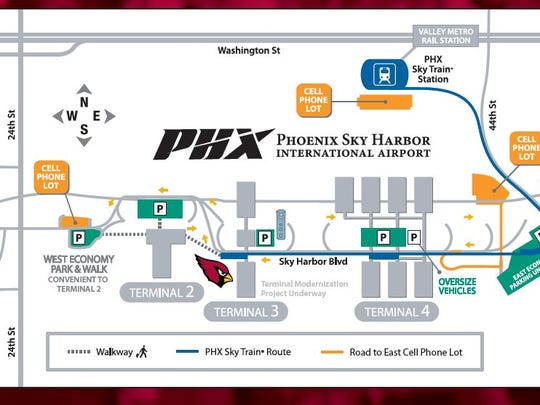 The Arizona Cardinals provided a map for fans who want to attend the team's send-off rally on Saturday.