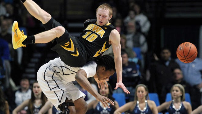 Mike Gesell and Iowa could face Penn State in the Hawkeyes' first Big Ten Tournament game. Iowa is the No. 5 seed.