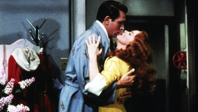 """Howard Keel and Kathryn Grayson in """"Kiss Me Kate."""""""