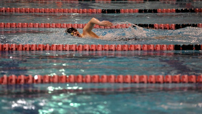 A swimmer competes at Graham Aquatic Center in 2015. Graham and the Central York High School pool will host the Middle Atlantic Swimming Junior Olympics in March.