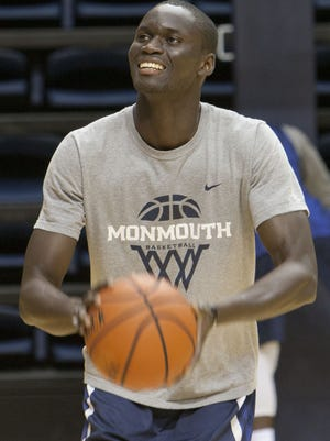The Monmouth University basketball team opened practice on Friday afternoon in West Long Branch