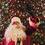 Santa takes time out of his busy schedule to visit Chinook Nov. 27 for the town's Parade of Lights.