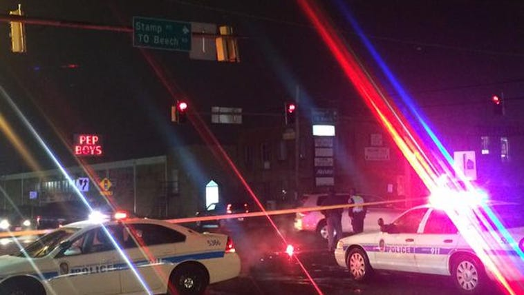 The scene where a child was struck by a car in Prince