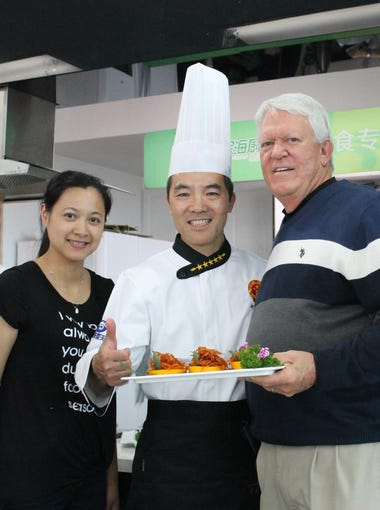 """One of the travelers from the United States to China in May was Lina Lynn, left, a chef from Jackson, Miss., who was the runnerup in the Food Network's """"Chopped"""" series."""
