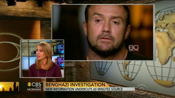 CBS correspondent Lara Logan apologized Nov. 8, 2013, after questions were raised regarding the credibility of a key source for a 60- Minutes report on the attack on the U.S. compound in Benghazi, Libya.