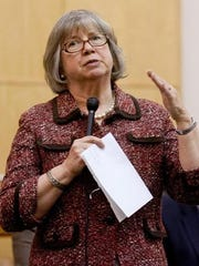 Assemblywoman Barbara Lifton, D-Ithaca, speaks at a public event in January.
