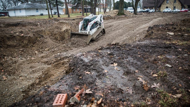 A site in the 1400 block of Riverside Avenue reportedly is being cleared for sorority housing for Ball State University students.
