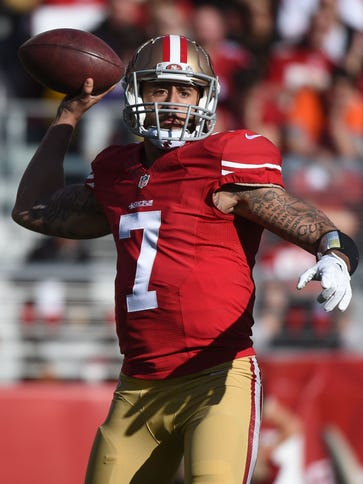49ers QB Colin Kaepernick has completed barely 60%