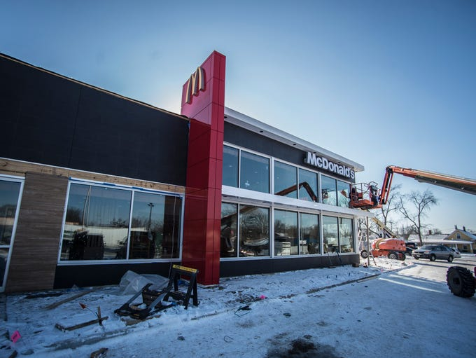 The front of the new McDonald's at 1725 E. Main St.