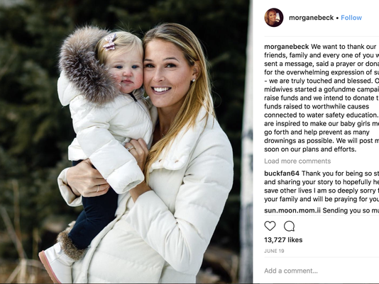 Morgan Miller and her daughter Emeline