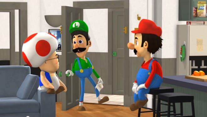 Mario channels Jerry Seinfeld in this animated mashup.