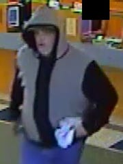 Sheboygan Police are looking for information on a suspect in connection to a robbery at United One Credit Union on Superior Avenue on Monday.