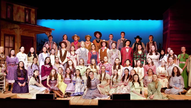 "Madison High School's ""Oklahoma!"" received seven nominations/honorable mentions for the Paper Mill Rising Star Awards. Pictured is the cast, crew and pit crew."