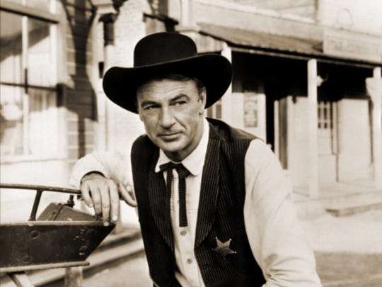 "Gary Cooper from the 1952 western ""High Noon."""