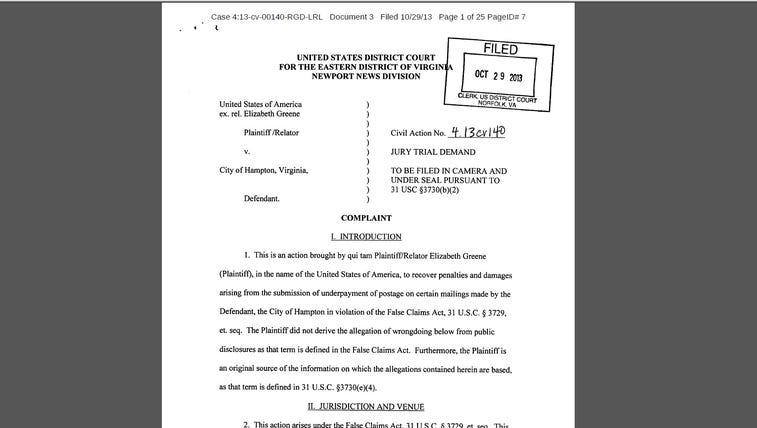Lawsuit filed against City of Hampton