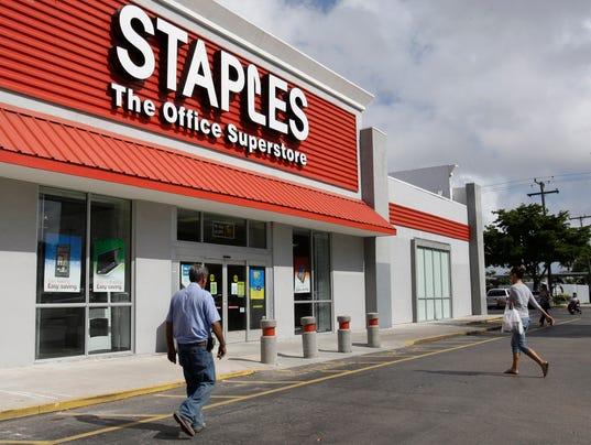staples, postal service