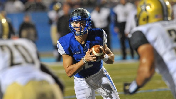 MTSU Blue Raiders quarterback Brent Stockstill (12)