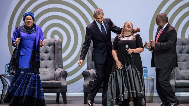 Barack Obama drops his best dance moves while visiting his father's homeland of Kenya