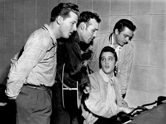 """The Million Dollar Quartet,"" a musical based on the real 1956 Sun Records summit, plays the Horseshoe Casino on Friday."
