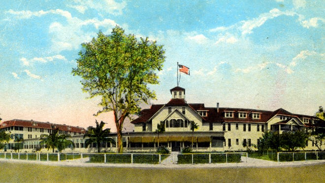 The Naples Hotel, pictured on a postcard before it was razed in 1963, was located at the end of the Naples Pier on Second Street between Broad and 13th Avenue South.
