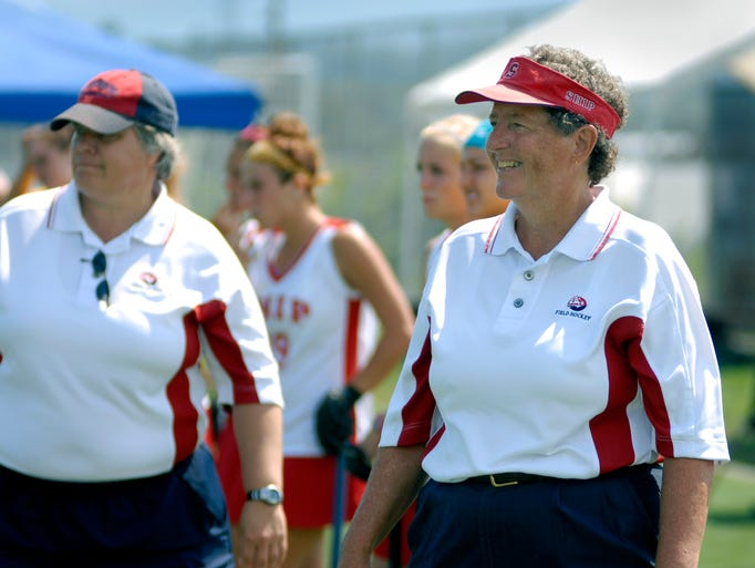 Shippensburg field hockey coach Bertie Landes officially