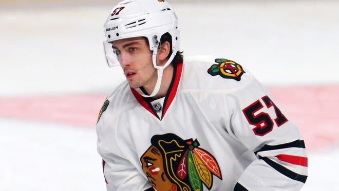 Trevor van Riemsdyk won a Stanley Cup with the Chicago Blackhawks last season.