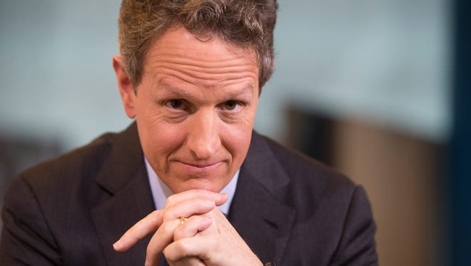 Former Treasury secretary Timothy Geithner is interviewed by USA TODAY Washington Bureau Chief Susan Page for a Capital Download segment.