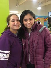 Valery Palacios (left) has been trying to her daughter Yahaira Meza in a charter school for three years.