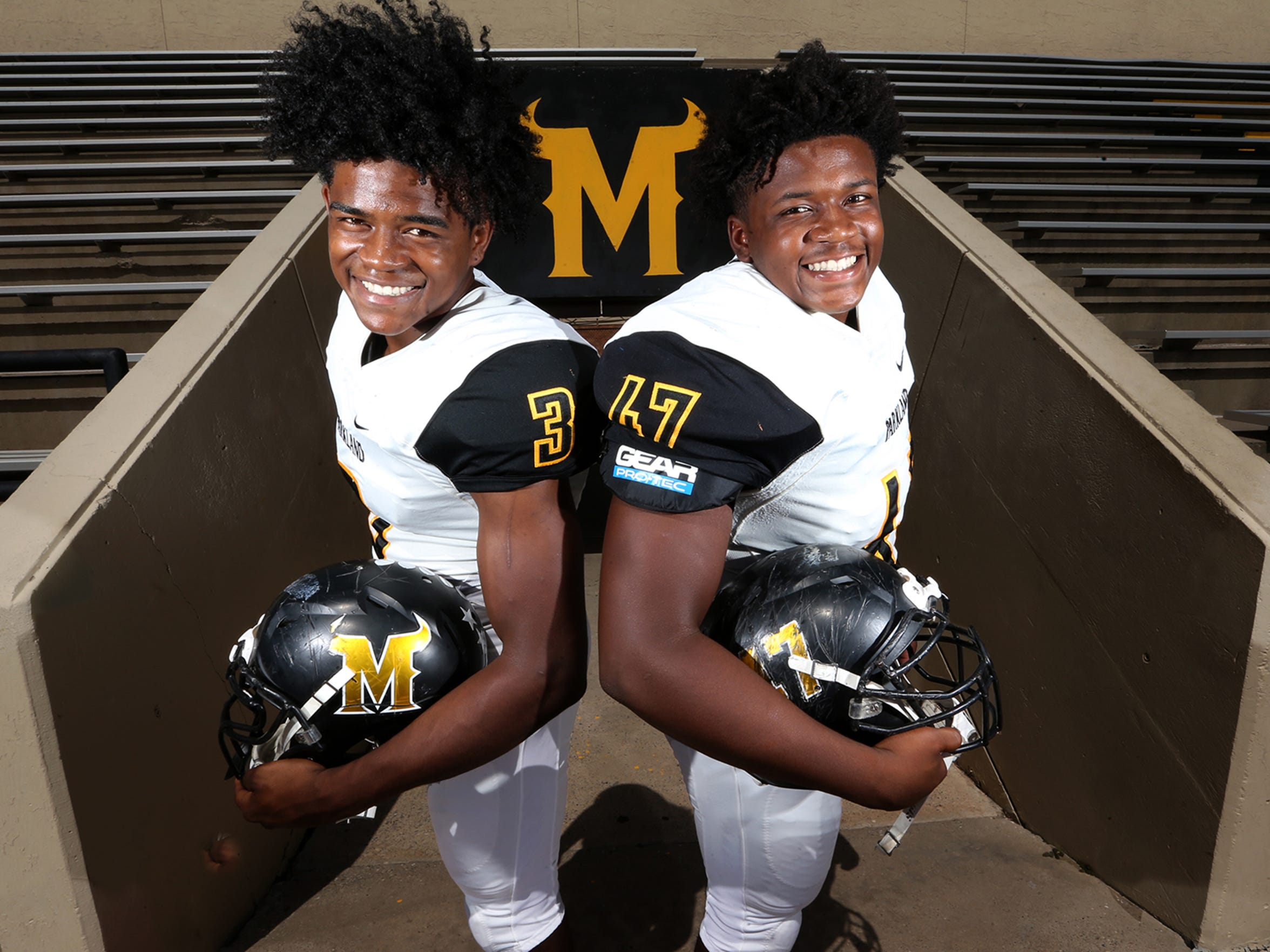 Brothers Deion, left, and Devontey Hankins of Parkland are gearing up for the a new season.