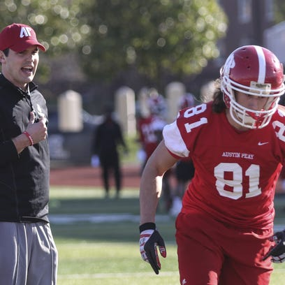 New Austin Peay football coach Will Healy watches senior
