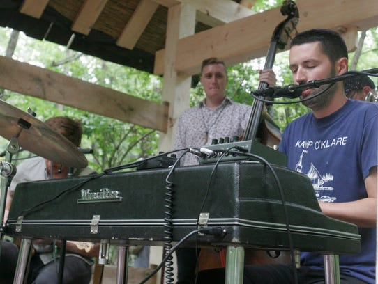 S Carey performs at the Eaux Claires music and art