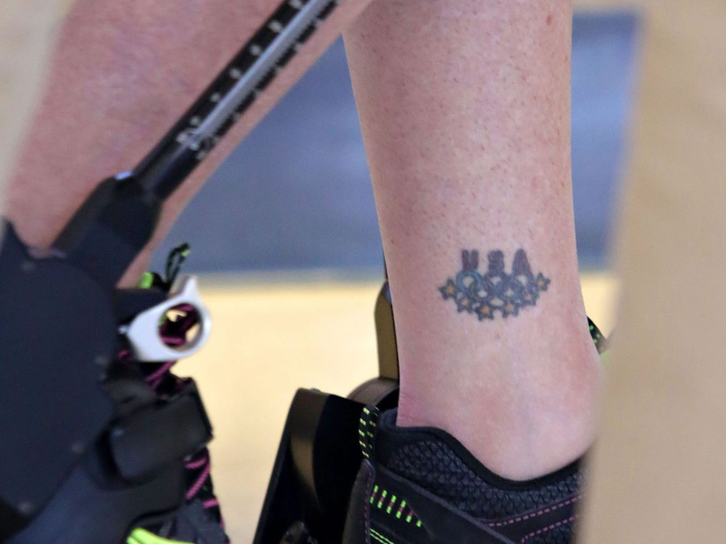 The first: A tattoo on Amy's ankle.