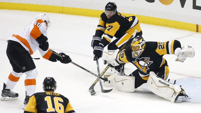 The Flyers won 5-3 in their last visit to Pittsburgh.