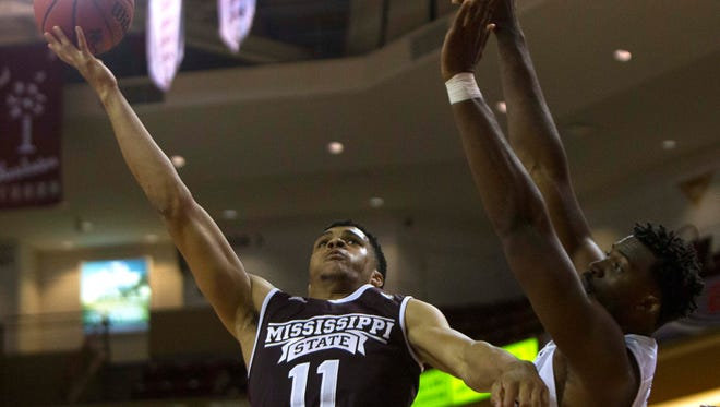 Mississippi State guard Quinndary Weatherspoon postponed season-ending wrist surgery and returned Thursday night against Oregon State.
