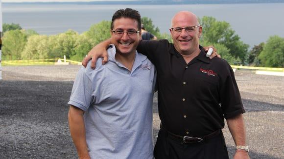 Toro Run Winery owners Chris Weaver, left, and Jim Coppola.