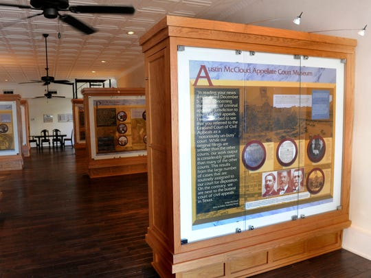 The first floor of the Austin McCloud Appellate Court Museum in Eastland Wednesday Nov. 29, 2017. The first floor contains information panels and interactive displays, while the second floor features a courtroom.