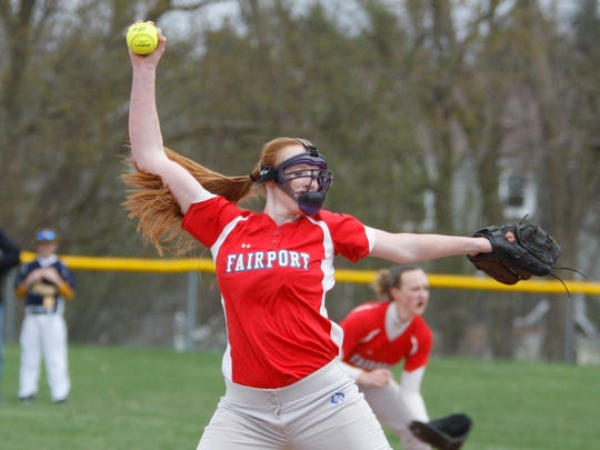 Fairport pitcher Sydney Bolan will be key fo for the Red Raiders this spring as they look to rebound from an off year.