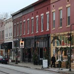 Main Street in La Grange served as one of the backdrops for scenes in the upcoming Hallmark movie.
