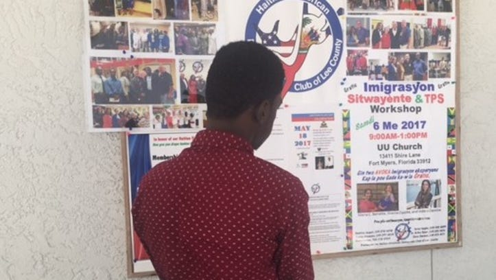 Haitians with TPS turned out to a workshop in early