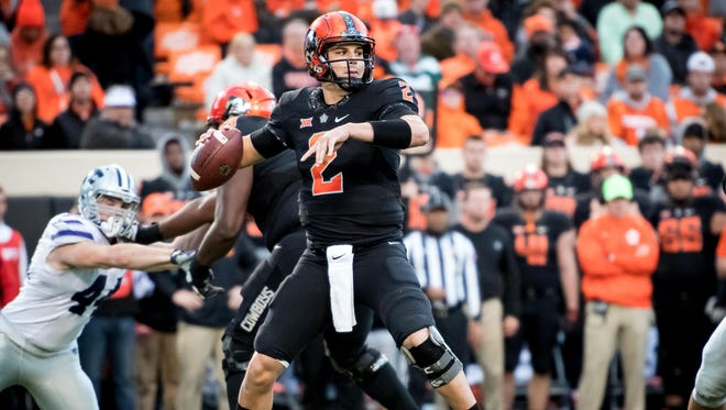 Mason Rudolph ranks fourth in Big 12 history in career passing yards.